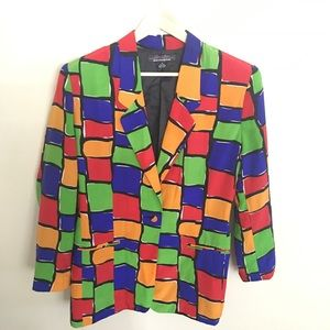 Color-block Squared Vintage Blazer